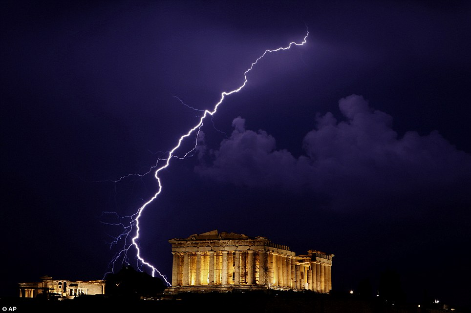 Lightening over the Parthenon